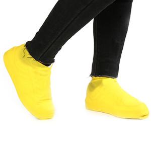 1 çift Yeniden kullanılabilir Lateks su geçirmez Yağmur Ayakkabı Kapaklar Kayma dirençli kauçuk yağmur önyükleme galoş S / M / L Ayakkabı Aksesuarlar