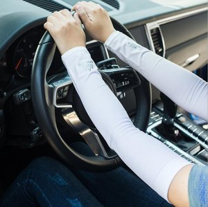 One Pair UV Sun Protection Cooling Arm Sleeve Cover Arm Cooler Warmer For Gloves Running Golf Cycling Driving
