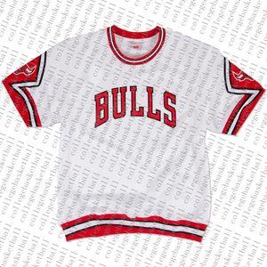 Encargo barato Mitchell Ness 1987-1988 Inicio de disparo Camisa - blanco cosida camiseta de baloncesto de verano tee retro