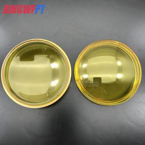 2x rond diamètre diamètre 90mm feux de brouillard lampes jaune en verre trempé en verre trempé pour Peugeot 207 208 301 307 407 607 3008 MPV