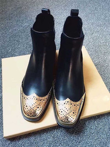 2020 여성의 패션 인기 부츠는 바닥 신발 크기 35-40 힐 높이 25mm의 빨간색 신발 2 종류 상단 송아지 가죽 / Yangjing 국수