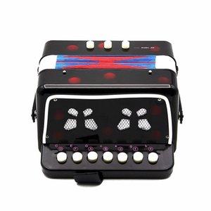 1PCS Mini Kids Accordéon 7-Key 3 Bass éducation pour enfants débutant pratique Instrument de musique Band Toy