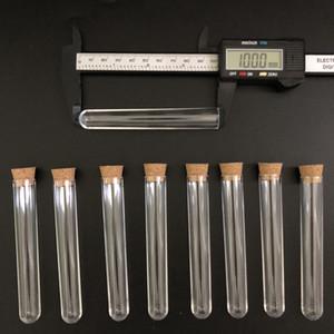 Mantarlar plastik laboratuar test yuvarlak boru fişi laboratuar şeffaf plastik 100pcs 15x100mm açık plastik test tüpleri borular şişe