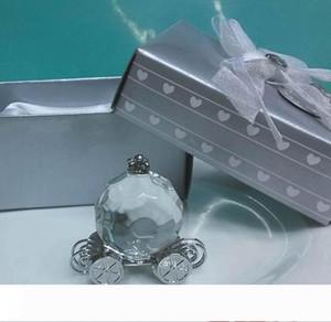 Douche nuptiale Souvenirs invités Cristal Pumpkin entraîneur transport en cristal Cadeaux de mariage faveurs pour les invités souvenir 100pcs gros