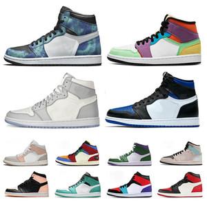 Nike Air Jordan 1s Hommes Chaussures De Basketball Triple Noir Blanc Bred Banned To Shadow Camo Royal Bleu Jumpman 1 Femmes Baskets De Sport Baskets Taille 36-46