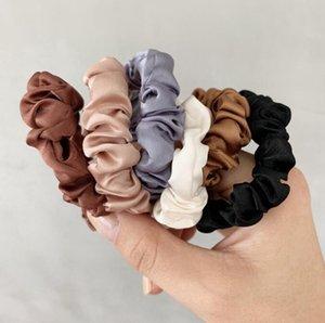 Scrunchie Hairbands Cabelo Mulheres Tie para Portadores Acessórios Satin Hair Scrunchies estiramento de-cavalo Handmade presente Heandband