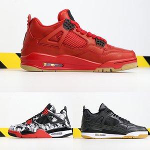 Singles Dia 4 Sport sapatos mens esportes Gum sapatas do desenhista do tatuagem Gym Red Chicago Marinha meia-noite 4s de luxo sneakers Atlético Negro
