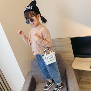 Kinder Handtaschen Mode-Druck-Designer-Baby-Mini-Geldbeutel-Schulter-Beutel-Teenager-Kind-Mädchen-Kurier-Beutel Nette Weihnachtsgeschenke