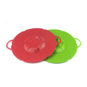2PCS LOT Cooking Flower Silicone Lid Spill Stopper Anti-overflow splash Silicone Cover For Pot Pan Eco-Friendly Kitchen Tools OK 0993