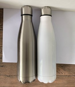Sublimation 17 Unzen Cola-Flasche Edelstahl Trinkflasche Double Wall Insulated Cola-Form für Kalt- und Warm am besten für Personifizierungsabschnitts