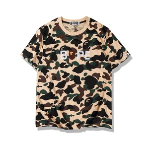 Bape nuovi Mens Stylist T shirt maniche corte Mens casuale girocollo Coppie High Cotton Tees qualità