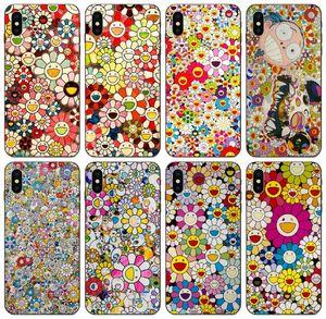[TongTrade] 무라카미 다카시 꽃 사례를 들어 애플의 아이폰 (11) 프로 맥스 X가 8S기를 기가 갤럭시 J2 화웨이 (30) (20) 라이트 소니 엑스 페리아 E5 1PCS 케이스 메이트