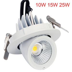 Super bright 10W 15W 25W LED ceiling light 360 degree rotating embedded COB LED trunk light