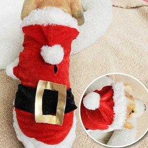 5 Taglia cane costume Natale cane vestito trasformato vestito di santa classico Euramerican pet dog vestiti di Natale animali abbigliamento all'ingrosso