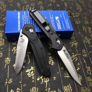 Couteau Benchmade BM 940 d2 Couteau à lame pliable poignée fibre de verre Nylon rondelle de cuivre EDC Couteau de poche de survie de camping couteaux multifonctionnels