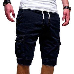 Fifth Pants Causal Loose Drawstring Knee Length Shorts Mid Waist Adult Short Trousers Hot Pocket Mens