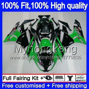 Iniezione OEM per Kawasaki ZX6R ZX636 2013 2014 2015 2016 2017 207MY.14 Stock Green ZX 636 600cc ZX636 ZX 6R ZX6R 13 14 15 16 17 carenatura