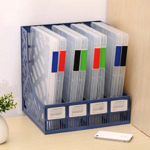 A4 transparente caja de almacenamiento de plástico transparente de papel del documento Expediente de relleno PP Oficina Organizador estuches de almacenamiento invisible se doblaron