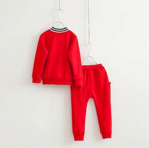 2020 New Spring Autumn Boys Tracksuits Fashion Boy Sports Sets Children Long Sleeve Casual T-shirt+Pants 2pcs Set Kids Suits Outfits 100-140