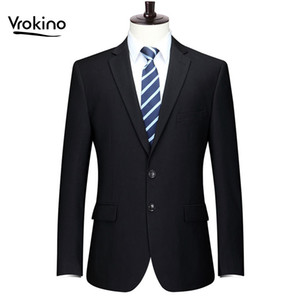 New Brand In 2019 Plus Size Size XL-9XL Men's Blazer Business Leisure Fashion Office Suit Coat The Man Men Slim Fit Dress