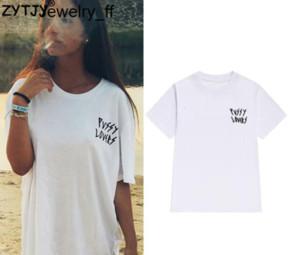 Bichano amantes bolso Cartas Imprimir Mulheres Camiseta de algodão Casual engraçado Camiseta Para Lady Girl Top Tee Hipster Tumblr Mulheres Long Camiseta Tops