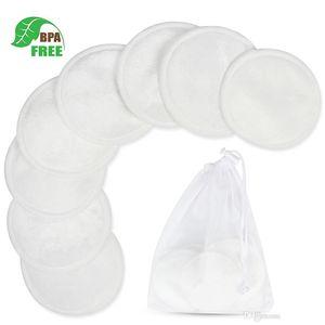 وسادات إزالة جعل قابلة لإعادة الاستخدام حتى المزيل وسادات الخيزران وصديقة للبيئة الغسيل حقيبة قابل للغسل جولات الطبيعية الخيزران القطن لجميع أنواع البشرة فا
