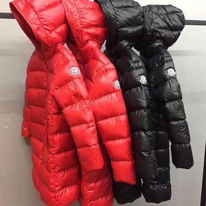 Men Women children children's down jacket jacket length ultra-light thick white duck down in the big kids baby kids' coat