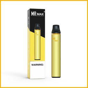 Best quality 8 Colors MR MAX Disposable Device Pod Vape Pen 3.5ml empty Vaporizer 1000puffs Vape Pen E-Cigarettes Po Xtra Oval Xtra
