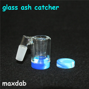 Glass Reclaim Catcher handmake catcaher in frassino e contenitori in cera siliconica da 5 ml per bong in vetro dab rig