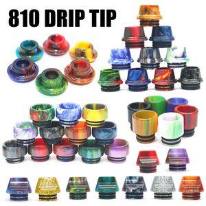 VapeSoon 810 510 Thread Resin Drip Tip 에폭시 수지 마우스 피스 TFV8 BABY 팔콘 TFV12 Prince IJUST 3 기타 DHL 무료 배송