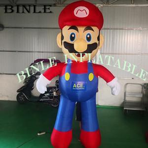 Пользовательский веселые персонажи мультфильмов Надувной Супер Марио с нагнетателем для продвижения игры рекламы