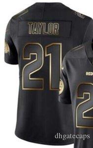 Vapor Limited Black Golden Джерси Мужские Вашингтон 21 Джерси рубашки Все команды американского футбола трикотажных изделий 00