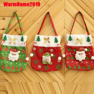 Fun Christma Candy Bags Kids Gifts Exquisite Xmas Party Decor For Home New Year Present Packet Santa Claus Home decoration dhl