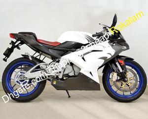 Carenagem Para Aprilia RS125 2006-2011 RS125 RS 125 06 07 08 09 10 11 ABS material branco preto da motocicleta Carenagens Kit (Injecção)