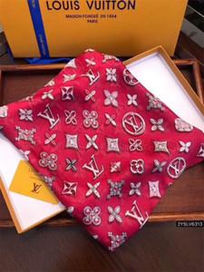 2019 Modische und schöne Frauen vier Jahreszeiten Seidenschal Marke Brief Blumenentwurf Schal Schal Größe 180 * 90cm Schal
