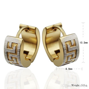 High Quality Punk Gold Stainless Steel Hoop Earrings Simple Style Circle Hoop Earring Fashion Earrings for Women Man Jewelry