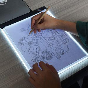 A4 Çizim Tahtasında LED Yazma Boyama Işık Kutusu USB Powered Tablet Boyama aracı için Pano Boş Tuval