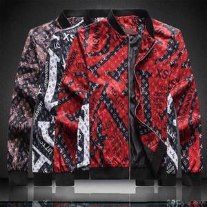 Jacket Padrão Zipper Carta animal novíssimo Designer G jaqueta corta-vento luva longa dos homens de