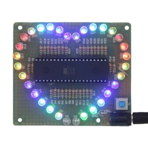 2018 DIY Kit Heart-shaped LED Red Blue Colorful Light Module Love Water Electronic Flashing Set Wholesale Drop shipping New