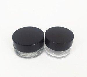 Leeres New Clear Eye Creme Jar 3g 5g Glas Lippenbalsam Container Wide Mouth Cosmetic Probenbehälter mit starken unteren