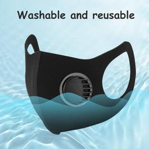 Masques Visage coupe-vent anti-buée Masque éponge Masque facial avec la respiration Valve pour enfants Garçons Filles plein air antiparticules