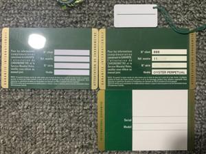 Commercio all'ingrosso modello di stampa verde certificato di garanzia di sicurezza personalizzato numero di serie dell'etichetta guardare box orologio certificato di garanzia