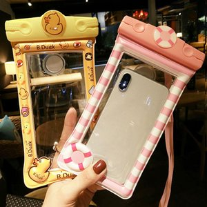 Universal Waterproof Case For iPhone X XS MAX 8 7 6 Plus Samsung Xiaomi Mobile Pouch Bag Cartoon Swimming Water proof Phone Case