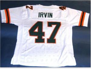 Donna-Uomo della gioventù Vintage # 47 Michael Irvin formato personalizzato Miami Hurricanes del calcio Jersey s-5XL o personalizzato qualsiasi nome o numero di maglia