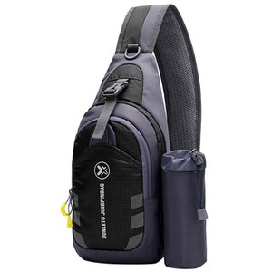 Lixada Men Women Crossbody Chest Bag Sling Backpack Shoulder Bag Travel Gym Shoulder Backpack Outdoor Hiking Sports Bag