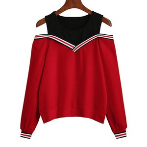 2020 Women Off Shoulder Leisure Pullover Hoodies Casual Autumn Long Sleeve Sweatshirt Jumper Tops Outwear Sudaderas Mujer