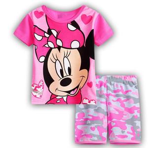 Mädchen Pyjama Anzug Kids Lovely Short Sleeve Pyjama Kinder Pyjama Kids Sleepwear Kleidung zu Hause Nachthemd