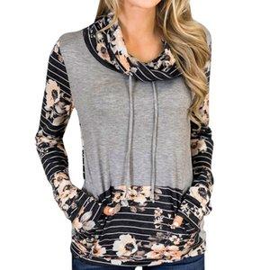 2019 hiver nouveau designer femme t-shirt décontracté automne Boho floral imprimé tShirts filles à manches longues Tee dames Cropped tops designer