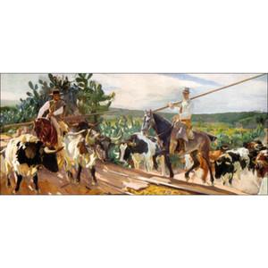 Andalusia, The Round Up di Joaquin Sorolla y Bastida Dipinti ad olio su tela dipinto a mano di alta qualità