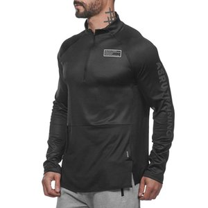 ECTIC Running Jackets Men Fitness Quick Dry Men Jackets Compression Long Sleeve GYM Top For Gym Running Windproof